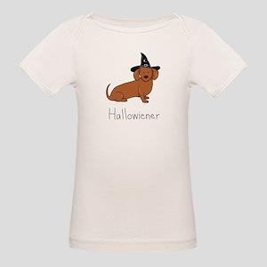 Halloween Wiener Dog Organic Baby T-Shirt