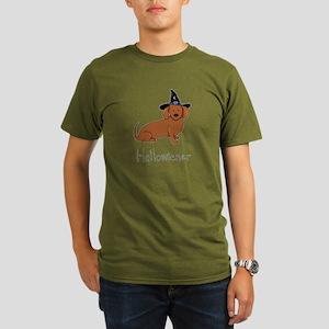 Halloween Wiener Dog Organic Men's T-Shirt (dark)