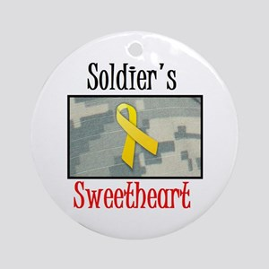 Soldier's Sweetheart ACU Ornament (Round)