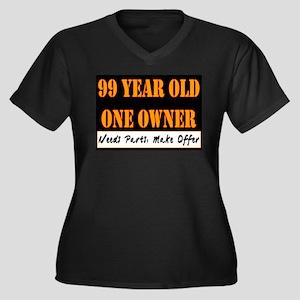 99th Birthday Women's Plus Size V-Neck Dark T-Shir