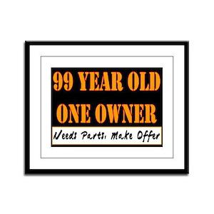 99th Birthday Framed Panel Print