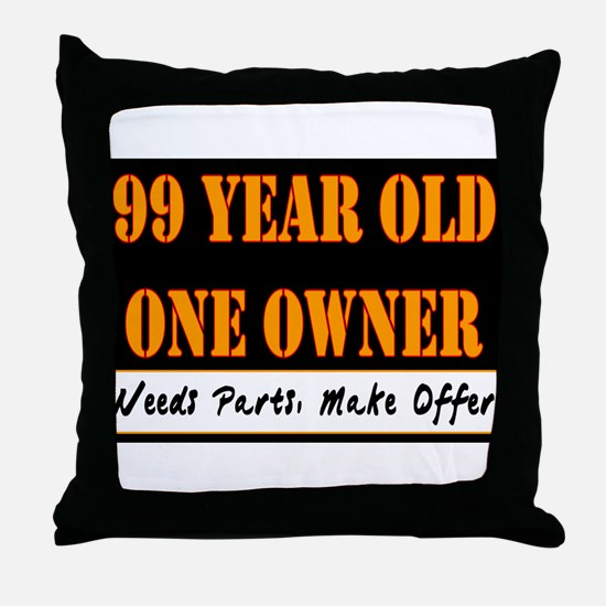 99th Birthday Throw Pillow