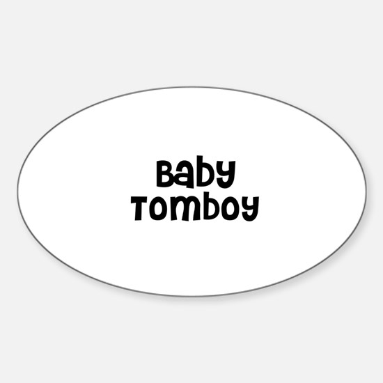 Baby Tomboy Oval Decal