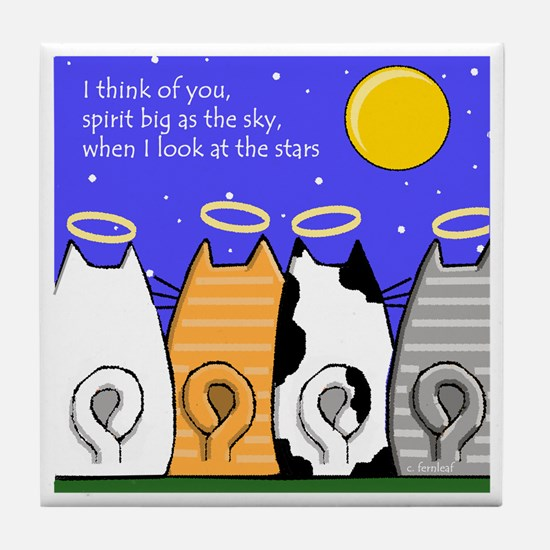 Cats, Spirit Big As Sky Tile Memorial
