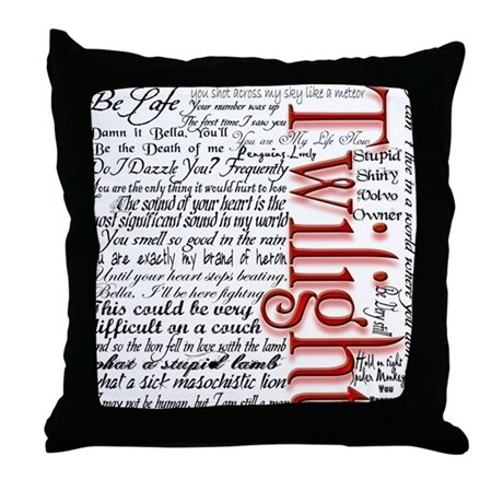 Photo Throw Pillow Gifts : Movie Twilight Quotes Gifts Throw Pillow by FamilyFavorites