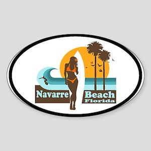 Navarre Beach FL Oval Sticker