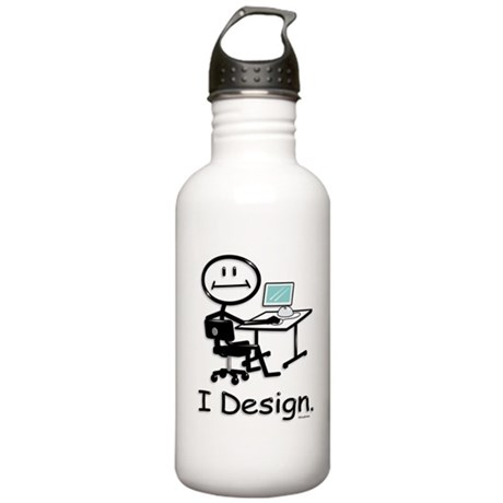 Graphic Designer Stick Stainless Water Bottle 1.0L