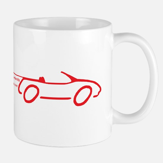 EV Miata drawing-red Mugs