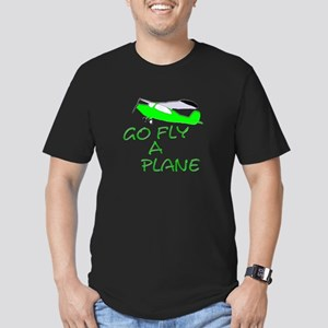 funny airplane Men's Fitted T-Shirt (dark)