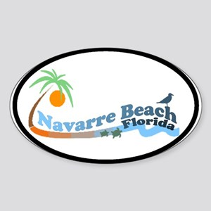 Navarre Beach FL Oval Sticker