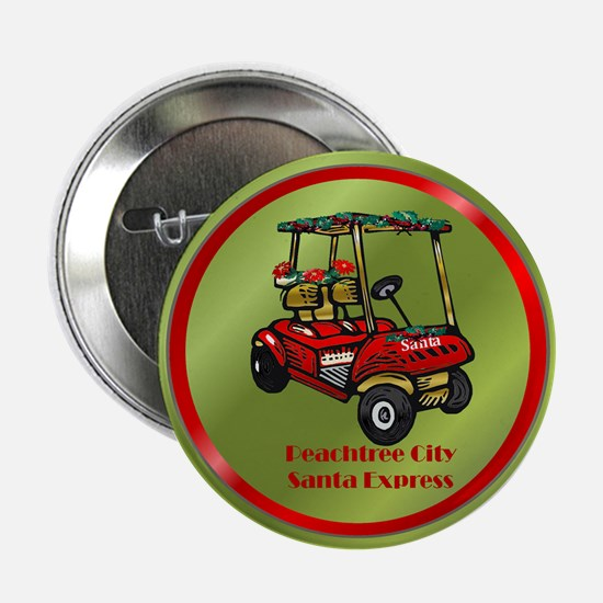 """Peachtree City Holidays 2.25"""" Button"""