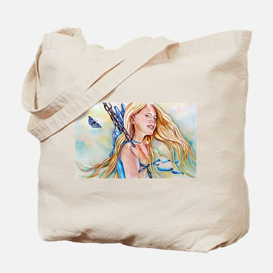 Just Breathe Fairy Tote Bag