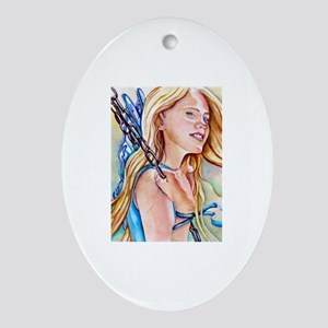 Just Breathe Fairy Oval Ornament