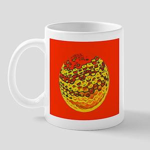 Golfer / Golf Ball Mug / Cup (orange)