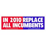 No Incumbents Bumper Sticker (10 pk)