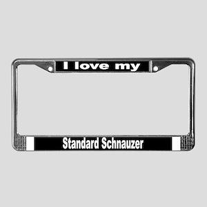"""Standard Schnauzer"" License Plate Frame"