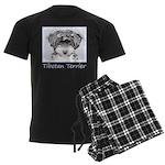 Tibetan Terrier Men's Dark Pajamas