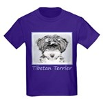 Tibetan Terrier Kids Dark T-Shirt