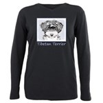 Tibetan Terrier Plus Size Long Sleeve Tee