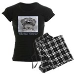 Tibetan Terrier Women's Dark Pajamas