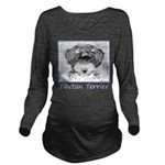 Tibetan Terrier Long Sleeve Maternity T-Shirt