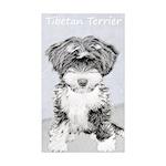 Tibetan Terrier Sticker (Rectangle 50 pk)