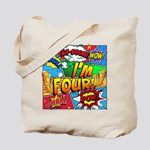 I'm Four Comic Book Tote Bag
