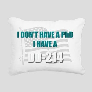 DD 214 PhD DD214 Rectangular Canvas Pillow