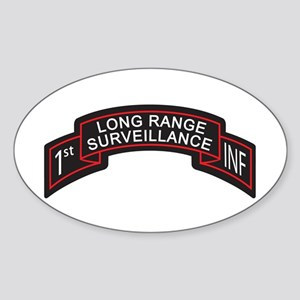 LRS 1st INF Long Range Survei Oval Sticker