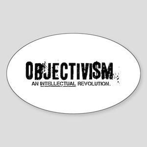 Objectivism Revolution Oval Sticker