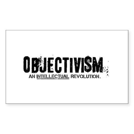 Objectist Revolution Rectangle Sticker