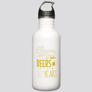 Cheers and Beers 30th Stainless Water Bottle 1.0L