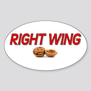 Right Wing Nut Oval Sticker