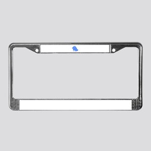 Classic Blue Dog License Plate Frame