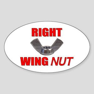 Wing Nut Oval Sticker