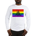 Rainbow Gadsden Flag Long Sleeve T-Shirt