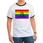 Rainbow Gadsden Flag Ringer T