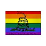 Rainbow Gadsden Flag Rectangle Magnet (100 pack)