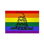 Rainbow Gadsden Flag Rectangle Magnet (10 pack)