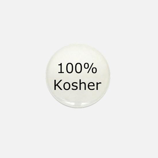 Jewish 100% Kosher Mini Button