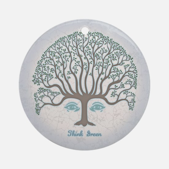 Think Green II Ornament (Round)
