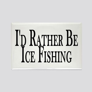 Rather Ice Fish Rectangle Magnet