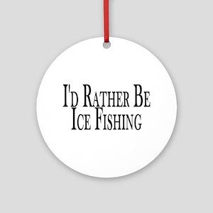 Rather Ice Fish Ornament (Round)