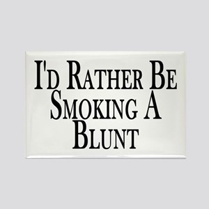 Rather Smoke Blunt Rectangle Magnet