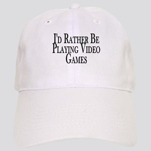 Rather Play Video Games Cap