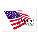 I Voted Why Didn't You Postcards (Package of 8)