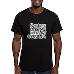 watchbloggers unite! Men's Fitted T-Shirt (dark)