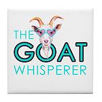 The Goat Whisperer Hipster Goat by GetYerGoat Tile