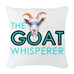 The Goat Whisperer Hipster By Woven Throw Pillow