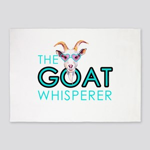 The Goat Whisperer Hipster Goat by GetYerGoat 5'x7